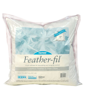 """Fairfield Feather-Fil Feather & Down Pillow 18"""" x 18"""""""
