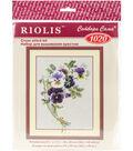 RIOLIS 9.5\u0027\u0027x11.75\u0027\u0027 Counted Cross Stitch Kit-Bunch of Pansies