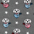 Luxe Flannel Fabric-Patriotic Dog Heads