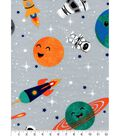 Nursery Flannel Fabric -Outerspace All Over Print
