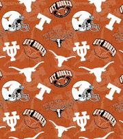 University of Texas Cotton Fabric-Tone on Tone, , hi-res