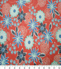 Quilter\u0027s Showcase Cotton Fabric-Large Floral Red Blue