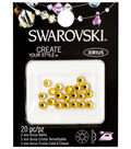 Swarovski 20pc 5mm Xirius Hotfix Crystals-Sunflower