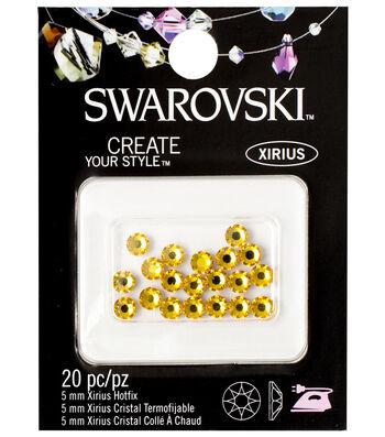 Swarovski Create Your Style 20 pk 5 mm Xirius Hotfix Crystals-Sunflower