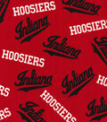 Indiana Hoosiers Cotton Fabric -Tossed on Red