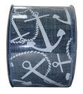 Decorative Ribbon 2.5\u0027\u0027 X 15\u0027-Anchors on Demim