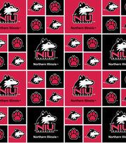 """Northern Illinois Huskies Cotton Fabric 43""""-New Block, , hi-res"""