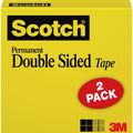 Scotch 2 pk 0.5\u0027\u0027x500\u0027\u0027 Permanent Double Sided Boxed Tape