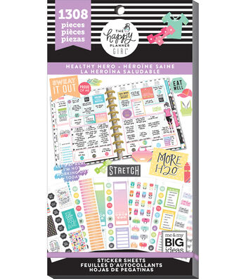 The Happy Planner Girl Value Pack Stickers-Healthy Hero