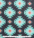 Blizzard Fleece Fabric -Breeze Aztec