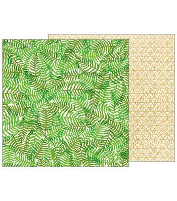 Pebbles Jen Hadfield Patio Party 12''x12'' Double-Sided Cardstock-Ferns
