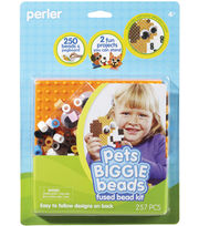 Perler Fun Fusion Biggie Fuse Bead Activity Kit-Pets, , hi-res