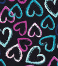 Snuggle Flannel Fabric -Brushed Hearts