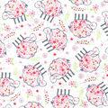 Nursery Flannel Fabric-Tossed Lambs