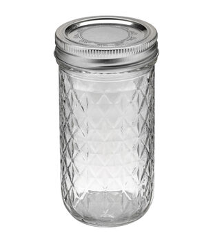 Ball Quilted Crystal Jelly Jar-12 Ounces-Case of 12
