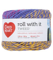 Red Heart Roll With It Tweed Yarn, , hi-res