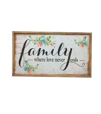 Hello Spring Wall Decor-Family Where Love Never Ends