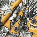 Ember Knit Prints Double Brushed Fabric-Yellows Sketchy Floral