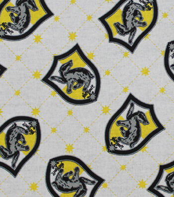 Harry Potter Cotton Fabric -Hufflepuff Crest