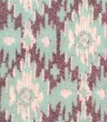 Luxe Fleece Fabric -Gray & Mint Aztec