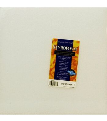 """Styrofoam White Block 12"""" X 12"""" X 1"""""""