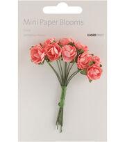 Fire Red -Mini Paper Blooms, , hi-res