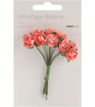 Fire Red -Mini Paper Blooms