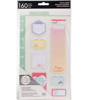 The Happy Planner 160-sheets Classic Faith Sticky Notes
