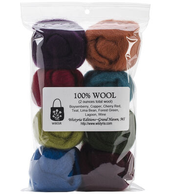 Wistyria Editions The Bouquet Wool Roving Yarn