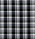 Quilter\u0027s Flannel Fabric-Gray & Black Preppy Plaid