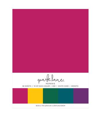 Park Lane 50 pk 8.5''x11'' Value Papers-Jewel Solids
