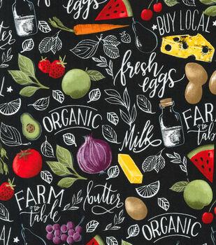 Novelty Cotton Fabric-Farmer's Market
