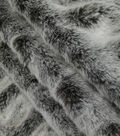 Rouched Faux Fur Fabric 58\u0022-Brown Tipped