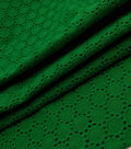 Speciality Cotton Fabric -Kelly Green Dots