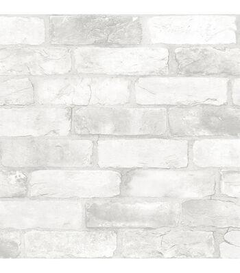 WallPops NuWallpaper 3D Peel & Stick Wallpaper-Brick