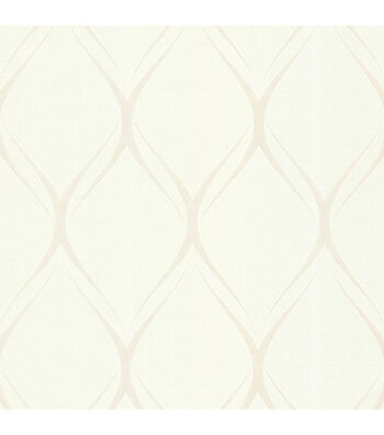 Gustav White Geometric Wallpaper