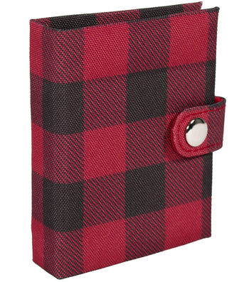 Everything Mary Needle Binder-Red Black Checker