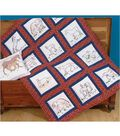 Jack Dempsey Themed Stamped White Quilt Blocks-Horses