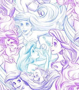 Disney Ariel Cotton Fabric -Sketch