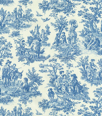 "Waverly Upholstery Fabric 54""-Charmed Life/Cornflower"