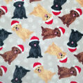 Anti-Pill Plush Fleece Fabric-Xmas Pups