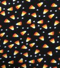 Halloween Doodles Cotton Interlock Fabric-Candy Corn