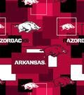 University of Arkansas Razorbacks Cotton Fabric 43\u0027\u0027-Modern Block