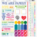 Reminisce Our Family Cardstock Multi Stickers