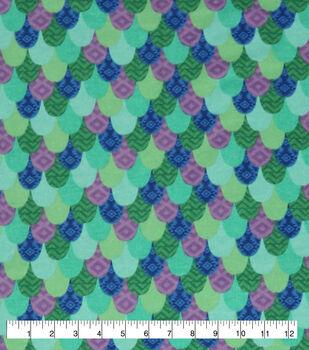 Super Snuggle Flannel Fabric-Pattern Trap Mermaid Scales