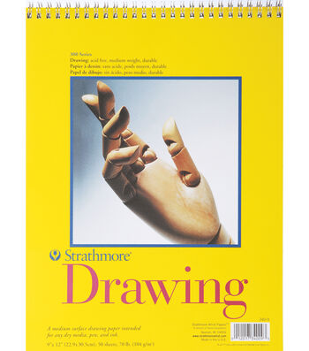 """Strathmore Spiral Drawing Notebook 9""""x12"""""""