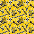Wichita State Shockers Cotton Fabric-Tone on Tone