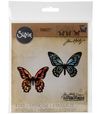 Sizzix Thinlits Dies-Mini Detailed Butterflies
