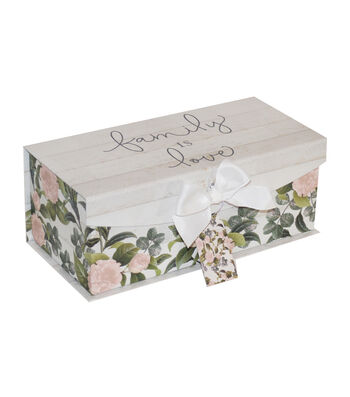 Medium Fliptop Storage Box-Floral