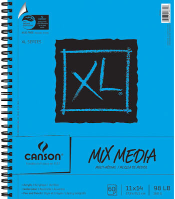 "Canson XL Spiral Multi-Media Paper Pad 11""X14""-60 Sheets"